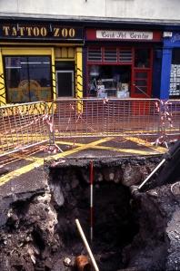 CULVERT AT PARADISE PLACE, CORK CITY 1997, AT JUNCTION OF LIBERTY STREET AND NORTH MAIN STREET