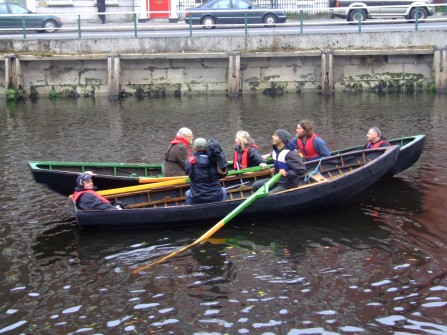 following the exposure of the culverts during excavation, a crew including Catryn Power followed the route of the culverts in Cork City, another Venice of the north