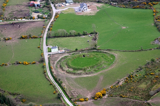 AERIAL VIEW OF CAHIRVAGLIER FORT, NEAR COPPEEN (photograph by Colum Cronin)