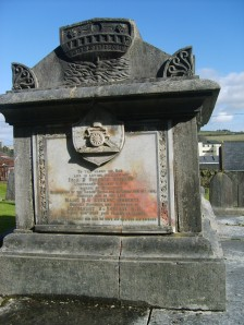 Monument to Robert of the Sirius . in Church of Ireland graveyard, Passage East: in urgent need of conservation. in Church of Ireland graveyard, Passage West: in urgent need of conservation.This boat-shaped sculpture was made by