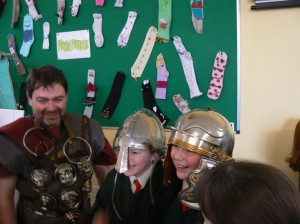 living history classes at Scoil Mhuire with Martin Macaree of Legion Ireland