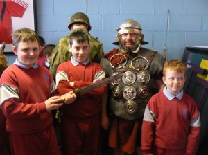 Living history classes in Scoil Eoin with Martin Macaree of the Legion