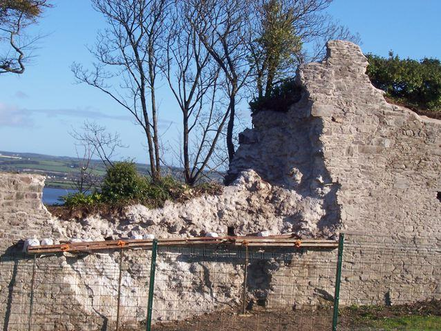 YOUGHAL TOWN WALLS at the commencement of stabilisation following the 2009 collapse. Photo K. Donnelly