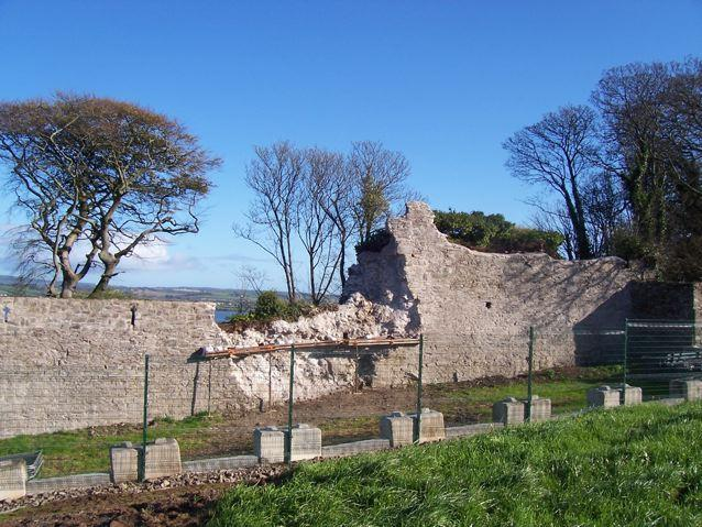 YOUGHAL TOWN WALLS 2009 in a poor state, following years of neglect, and subsequent collapse in bad weather
