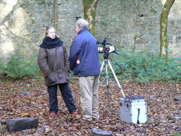 FILMING AT BALLINCOLLIG ROYAL GUNPOWDER MILLS, IN THE COAL STORE